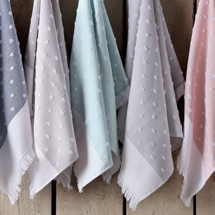 Кухонное полотенце Tivolyo Home DOTTY хлопок голубой 50х70