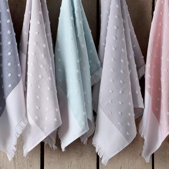 Кухонное полотенце Tivolyo Home DOTTY хлопок (голубой)