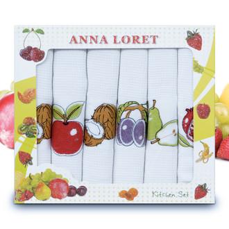Набор кухонных полотенец 40*60(6) Ceylin's ANNA LORET 8058 хлопковая вафля (07)