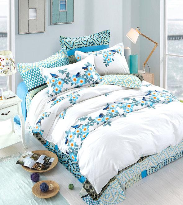 Комплект постельного белья Tango TPIG-373 хлопковый сатин 2-х спальный (нав. 50*70), фото, фотография