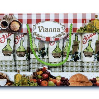 Набор кухонных полотенец 35*50(6) Vianna LUXURY хлопковая вафля (15)