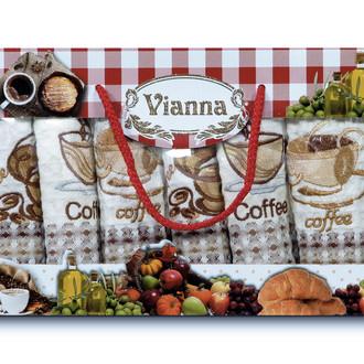 Набор кухонных полотенец 35*50(6) Vianna LUXURY хлопковая вафля (14)