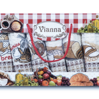 Набор кухонных полотенец 35*50(6) Vianna LUXURY хлопковая вафля (16)