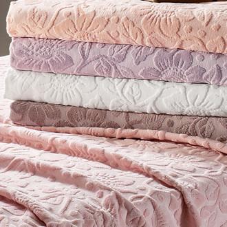 Полотенце для ванной Tivolyo Home CAMILLA хлопковая махра грязно-розовый