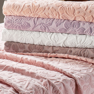 Полотенце для ванной Tivolyo Home CAMILLA хлопковая махра розовый