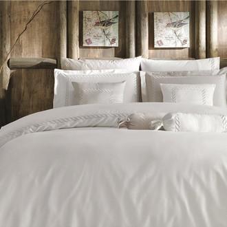 Комплект постельного белья Tivolyo Home CATENA хлопковый люкс-сатин (кремовый+бежевый)
