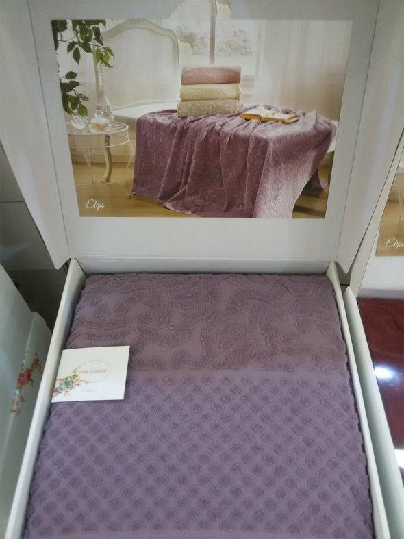 Махровая простынь-покрывало для укрывания Tivolyo Home ELIPS хлопок (фиолетовый) 220*240, фото, фотография