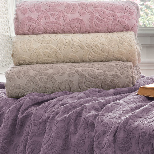 Махровая простынь-покрывало для укрывания Tivolyo Home ELIPS хлопок фиолетовый 160х220, фото, фотография