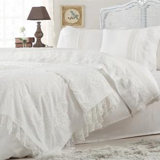 Комплект постельного белья с покрывалом Gelin Home FUNDA хлопковый сатин делюкс (ментол)