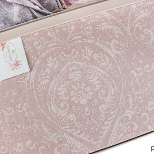 Простынь-покрывало для укрывания Tivolyo Home MARONE хлопковый жаккард розовый 220х240