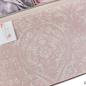 Простынь-покрывало для укрывания Tivolyo Home MARONE хлопковый жаккард розовый