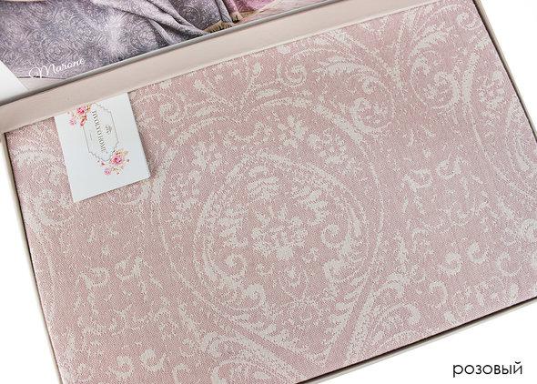 Простынь-покрывало для укрывания Tivolyo Home MARONE хлопковый жаккард (розовый) 220*240, фото, фотография