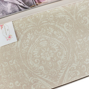 Простынь-покрывало для укрывания Tivolyo Home MARONE хлопковый жаккард бежевый 160х220