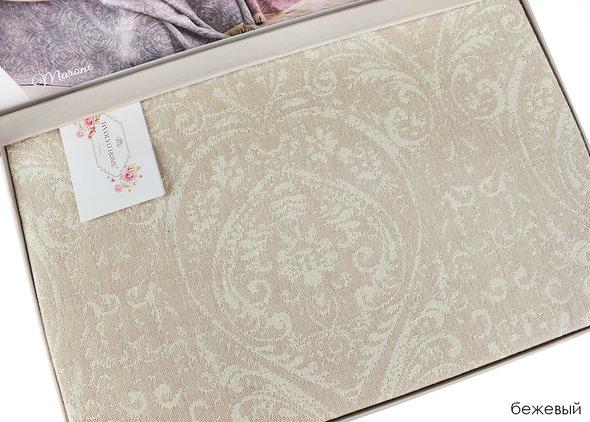 Простынь-покрывало для укрывания Tivolyo Home MARONE хлопковый жаккард (бежевый) 220*240, фото, фотография