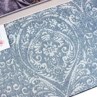 Простынь-покрывало для укрывания Tivolyo Home MARONE хлопковый жаккард (синий)
