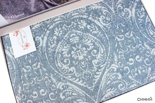 Простынь-покрывало для укрывания Tivolyo Home MARONE хлопковый жаккард синий 220х240, фото, фотография
