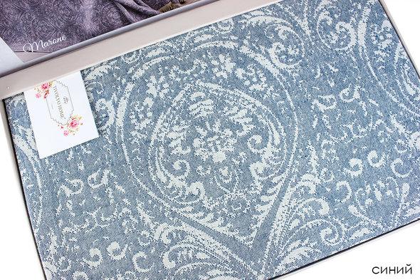 Простынь-покрывало для укрывания Tivolyo Home MARONE хлопковый жаккард (синий) 220*240, фото, фотография
