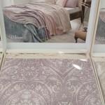 Простынь-покрывало для укрывания Tivolyo Home MARONE хлопковый жаккард фиолетовый 220х240, фото, фотография
