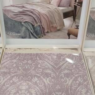 Простынь-покрывало для укрывания Tivolyo Home MARONE хлопковый жаккард фиолетовый 220х240