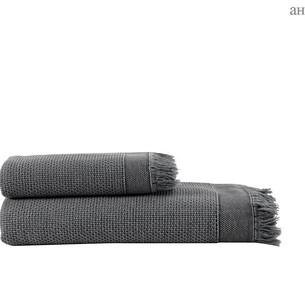 Полотенце для ванной и пляжа Buldan's SANTOS хлопок антрацит 90х150