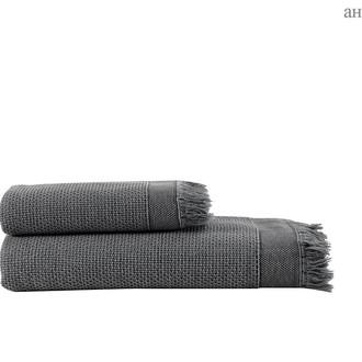 Полотенце для ванной и пляжа Buldan's SANTOS хлопок антрацит