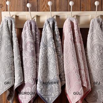 Набор полотенец для ванной 2 пр. Tivolyo Home FLAVIA хлопковая махра (грязно-розовый)