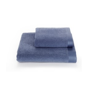 Полотенце для ванной Soft Cotton LORD хлопковая махра голубой 85х150