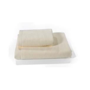 Полотенце для ванной Soft Cotton LORD хлопковая махра кремовый 85х150