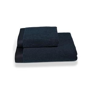 Полотенце для ванной Soft Cotton LORD хлопковая махра тёмно-синий 85х150