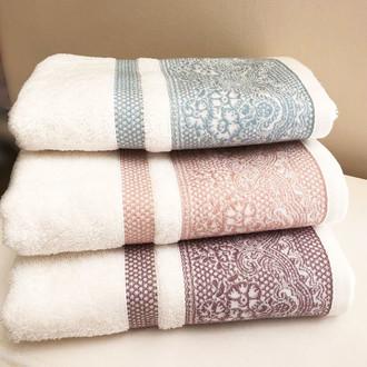 Полотенце для ванной Tivolyo Home DAMARIO хлопковая махра голубой