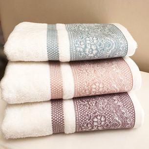 Полотенце для ванной Tivolyo Home DAMARIO хлопковая махра розовый 50х100