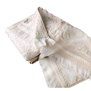 Набор полотенец для ванной 2 пр. Tivolyo Home SANDRA хлопковая махра кремовый+бежевый