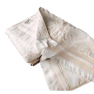 Набор полотенец для ванной 2 пр. Tivolyo Home SANDRA хлопковая махра (кремовый+бежевый)