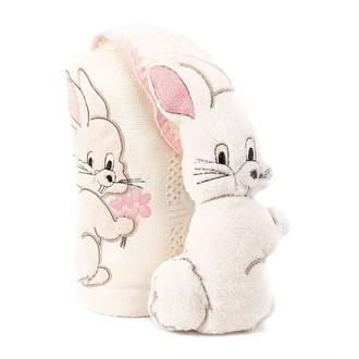 Плед детский для новорожденных с игрушкой Gelin Home ЗАЙЧИК (розовый)