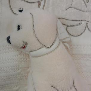 Плед детский для новорожденных с игрушкой Gelin Home СОБАЧКА бежевый 85х100