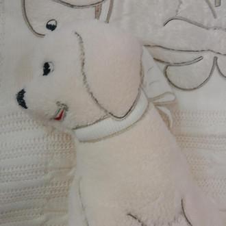 Плед детский для новорожденных с игрушкой Gelin Home СОБАЧКА (бежевый)