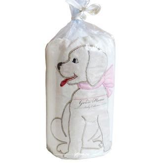 Плед детский для новорожденных с игрушкой Gelin Home СОБАЧКА (розовый)