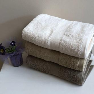 Полотенце для ванной Tivolyo Home TIVOLYO DUZ хлопковая махра (коричневый)