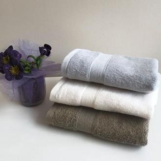 Полотенце для ванной Tivolyo Home TIVOLYO DUZ хлопковая махра (серый)