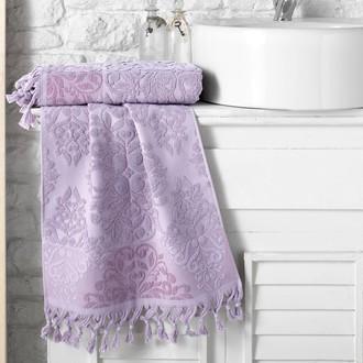 Полотенце для ванной Karna OTTOMAN хлопковая махра светло-лавандовый