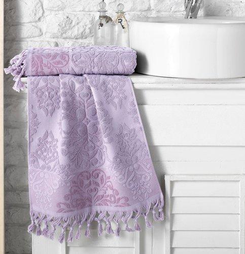 Полотенце для ванной Karna OTTOMAN хлопковая махра светло-лавандовый 40х60, фото, фотография