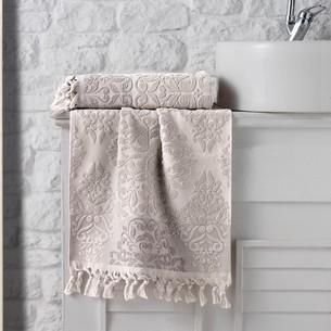 Полотенце для ванной Karna OTTOMAN хлопковая махра бежевый 40х60
