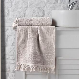 Полотенце для ванной Karna OTTOMAN хлопковая махра (бежевый)