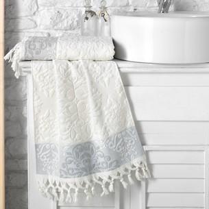 Полотенце для ванной Karna OTTOMAN хлопковая махра кремовый 50х90
