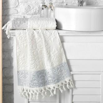 Полотенце для ванной Karna OTTOMAN хлопковая махра кремовый