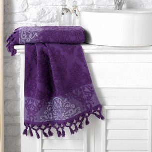 Полотенце для ванной Karna OTTOMAN хлопковая махра фиолетовый 50х90