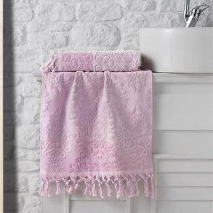 Полотенце для ванной Karna OTTOMAN хлопковая махра пудра 70х140