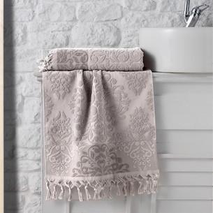 Полотенце для ванной Karna OTTOMAN хлопковая махра капучино 50х90