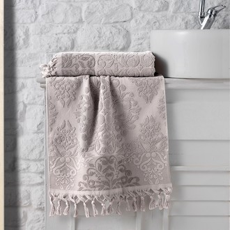 Полотенце для ванной Karna OTTOMAN хлопковая махра (капучино)