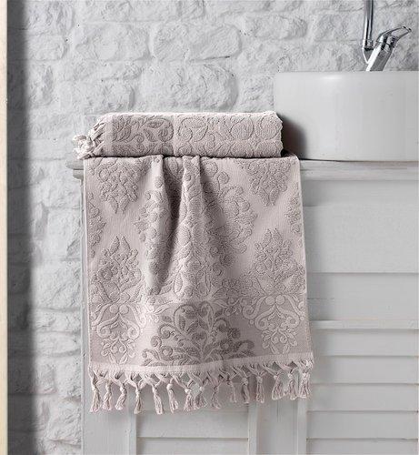 Полотенце для ванной Karna OTTOMAN хлопковая махра капучино 40х60, фото, фотография